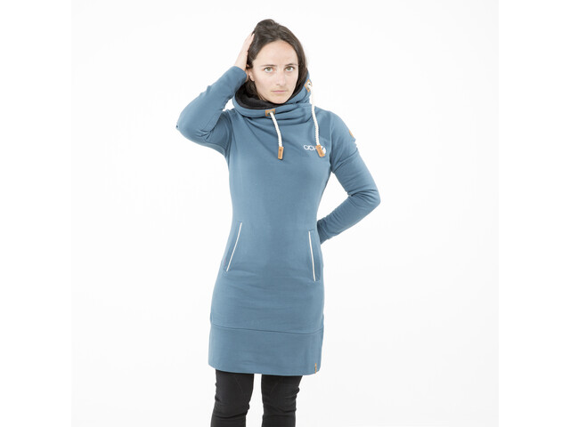 ABK Gaun Robe à capuche Femme, blue grey